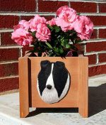Collie Planter Flower Pot Rough Bi Black