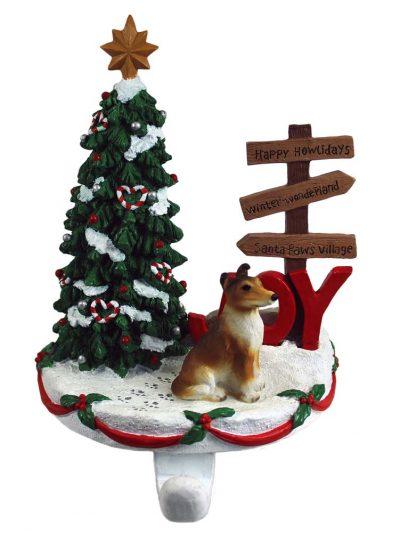Collie Stocking Holder Hanger Smooth Hair