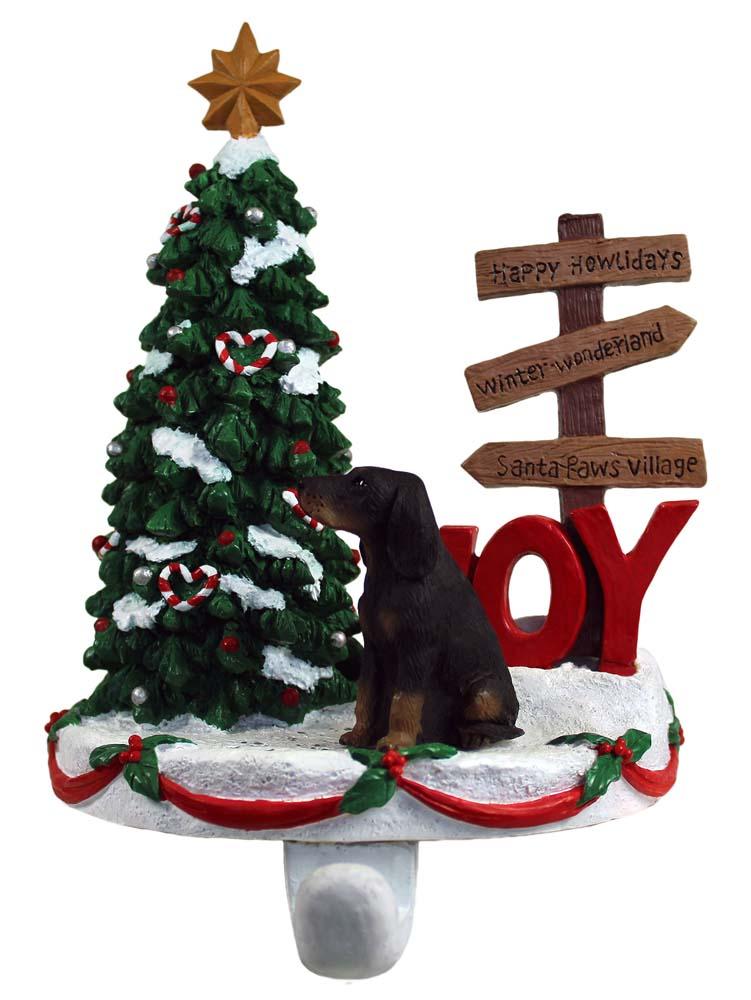 Coonhound Stocking Holder Hanger