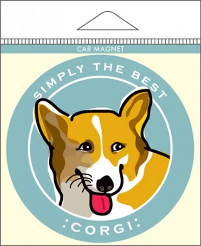 Corgi Car Magnet 4×4″ 1