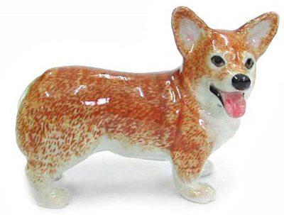 Corgi Hand Painted Porcelain Figurine Pembroke