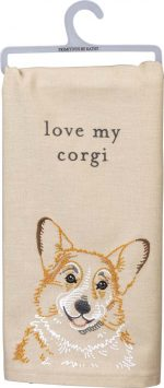 Corgi Kitchen Dish Towel By Kathy Pembroke