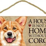 Corgi Wood Dog Sign Wall Plaque Photo Display 5 x 10 – House Is Not A Home + Bonus Coaster 1