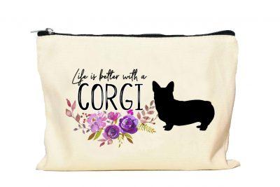 Corgi Makeup bag