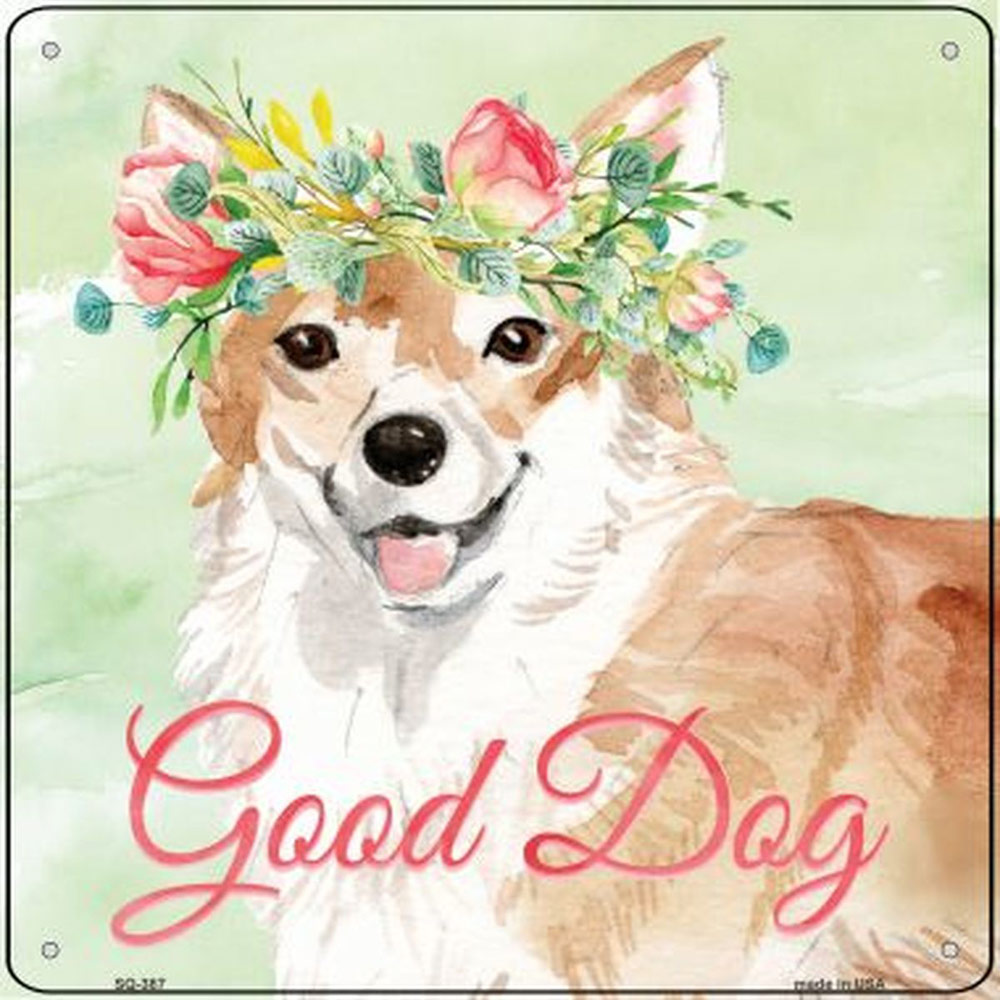 "Corgi ""Good Dog"" Metal Sign Pembroke"