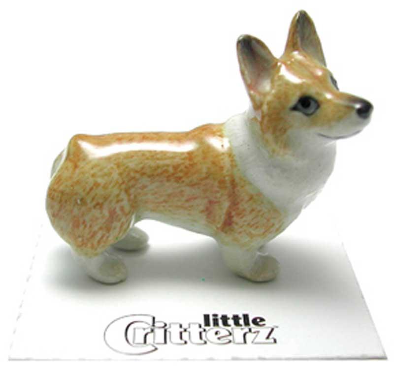 Corgi Hand Painted Porcelain Miniature Figurine Pembroke