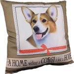 Corgi Pillow 16×16 Polyester 1