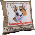 Corgi Pillow 16x16 Polyester