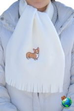 Corgi Scarf Cream Fleece