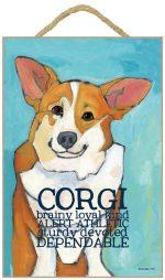Corgi Characteristics Indoor Sign Pembroke