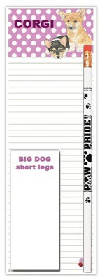 Corgi Dog Notepads To Do List Pad Pencil Gift Set