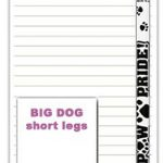 Corgi Dog Notepads To Do List Pad Pencil Gift Set 1
