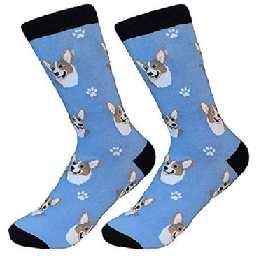 Corgi Socks Blue