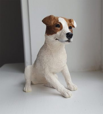 Custom Painted Jack Russell Terrier Figurine