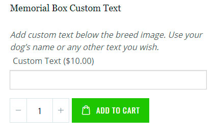Custom Text Box for Memorial Boxes