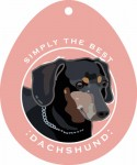 "Dachshund Sticker 4x4"" Black"