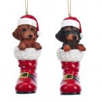 Dachshund Boot Ornament