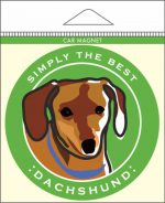 "Dachshund Car Magnet 4x4"" Brown"
