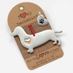 Dachshund Holiday Ornament & Collar Charm Set