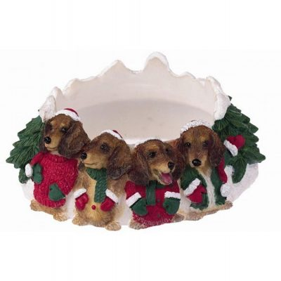 Dachshund Holiday Candle Topper Ring 1