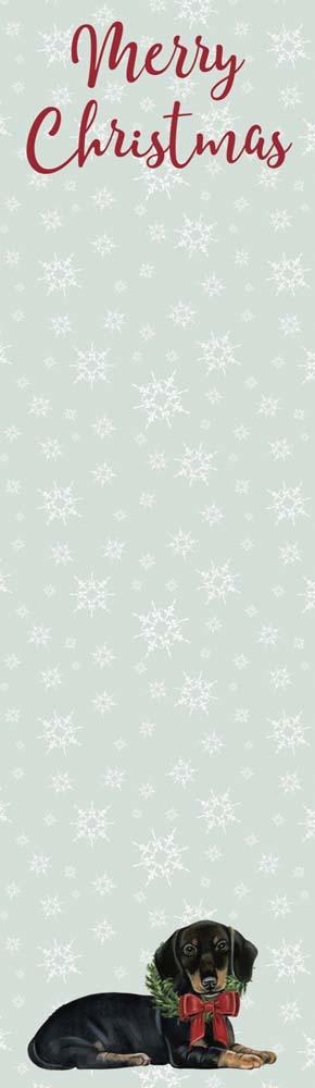 Merry Christmas Dachshund List Pad