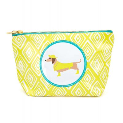 Dachshund Zippered Makeup Travel Bag 1
