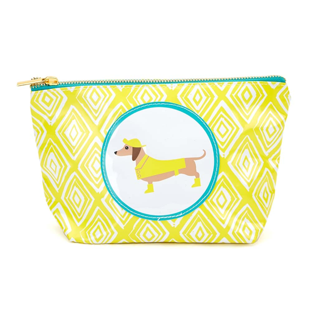 Dachshund Zippered Makeup Travel Bag