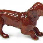 Dachshund Hand Painted Porcelain Figurine Puppy Red 1