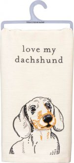 Dachshund Kitchen Dish Towel By Kathy