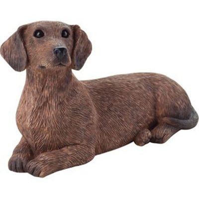 dachshund-figurine-red-sandicast