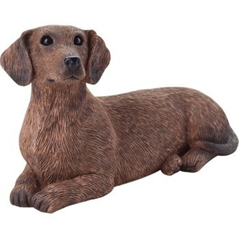 Dachshund Figurine Red Sandicast