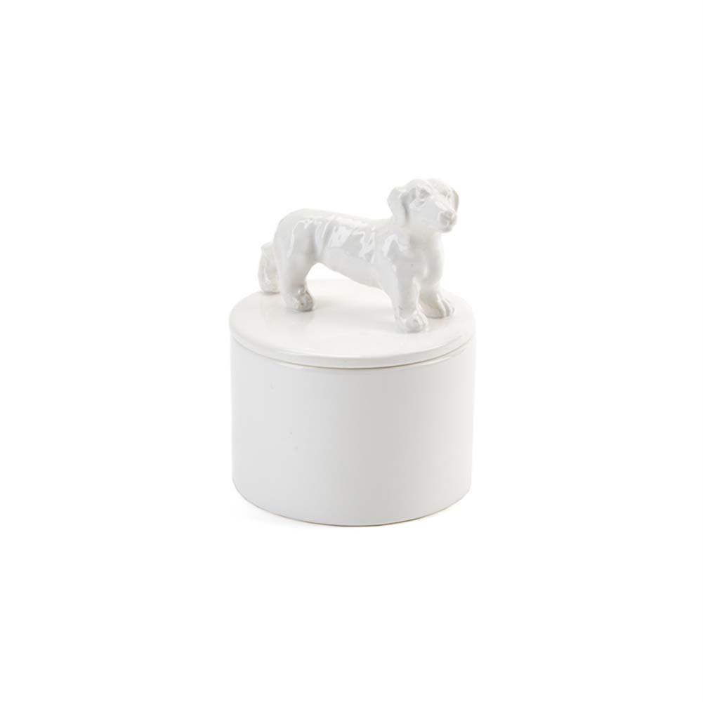 Dachshund Jewelry Box Porcelain
