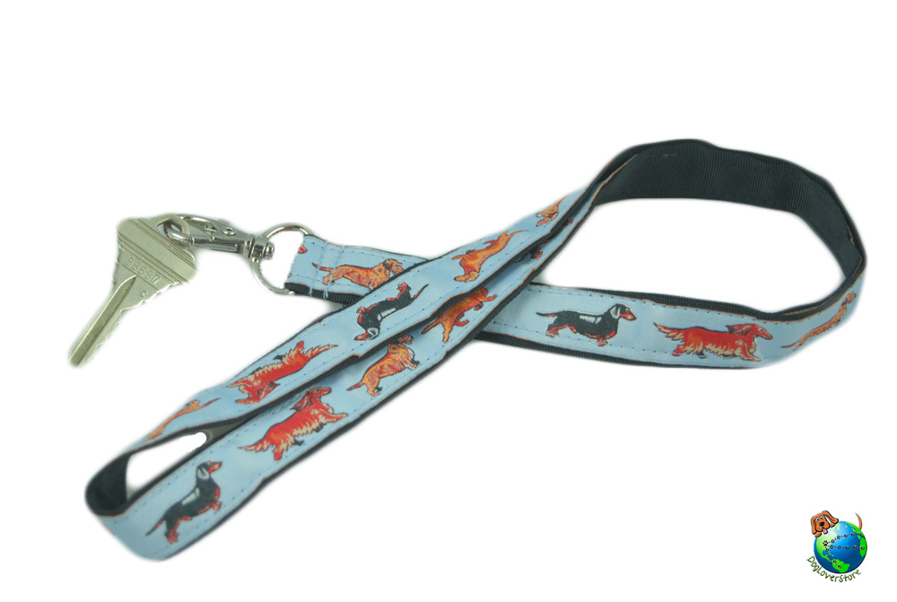 Dachshund Lanyard Key Holder Badge Holder