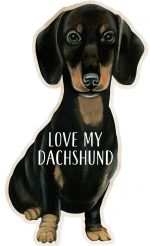 Dachshund Shaped Magnet By Kathy Black