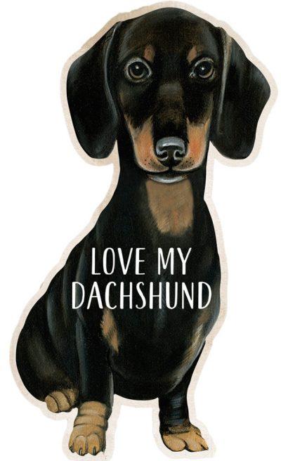 Dachshund Shaped Magnet By Kathy Black