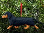 Dachshund Tree Ornament - Black/Tan