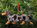 Dachshund Tree Ornament - Blue Dapple