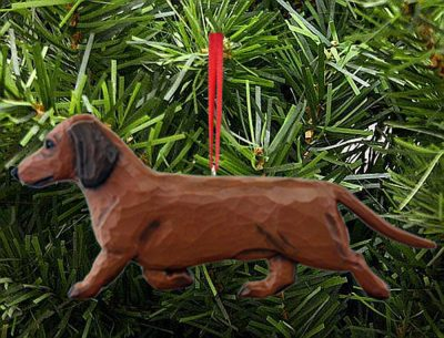 Dachshund Tree Ornament Red