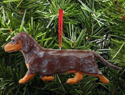 Dachshund Tree Ornament Red/Tan