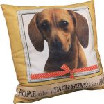 Dachshund Pillow 16×16 Polyester Red 1