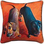 Dachshund Artistic Throw Pillow 18X18″ 1