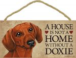 Dachshund Wood Dog Sign Wall Plaque 5 x 10 + Bonus Coaster