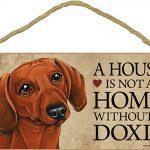 Dachshund Wood Dog Sign Wall Plaque 5 x 10 + Bonus Coaster 1
