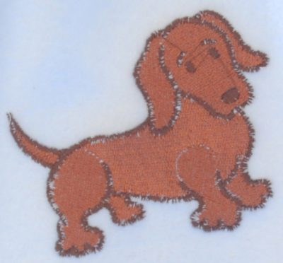 Dachshund Scarf Cream Fleece Red 2