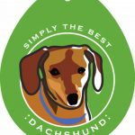 Dachshund Sticker 4×4″ Brown 1