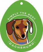 "Dachshund Sticker 4x4"" Brown"