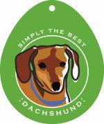 """Dachshund Sticker 4x4"""" Brown"""