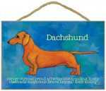 Dachshund Characteristics Indoor Sign Red