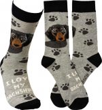 I Love My Dachshund Socks By Kathy