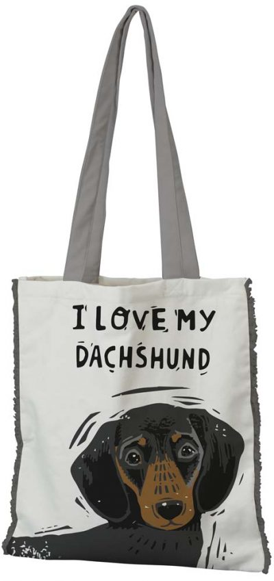 Dachshund Tote Bag Black